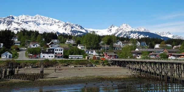 Haines, a town framed by glaciers and mountains