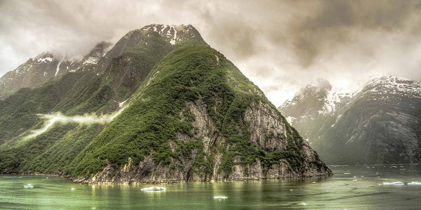 Beautiful view of Tracy Arm Fjord, an unforgettable part of Alaska.