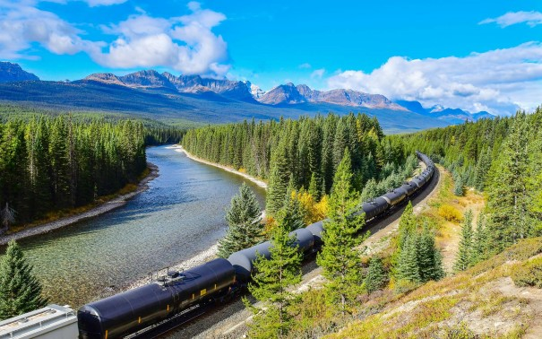 Take a scenic journey on the Rocky Mountaineer train.