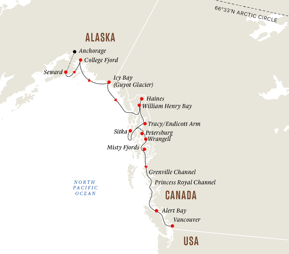 Alaska and British Columbia - Wilderness, Glaciers and Culture (Southbound)