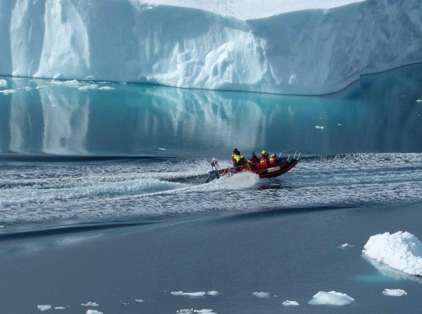 Adventure between the icebergs, Lemaire Channel, Antarctica