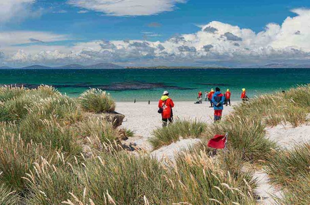 From the pubs of Stanley to the vast white sand beaches of Carcass Island, the magical Falkland Islands is world of contrasts.
