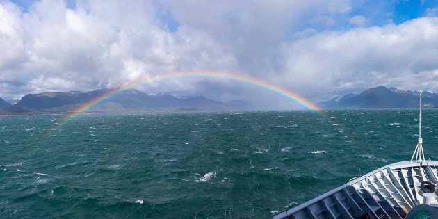 Rainbow over Beagle Channel