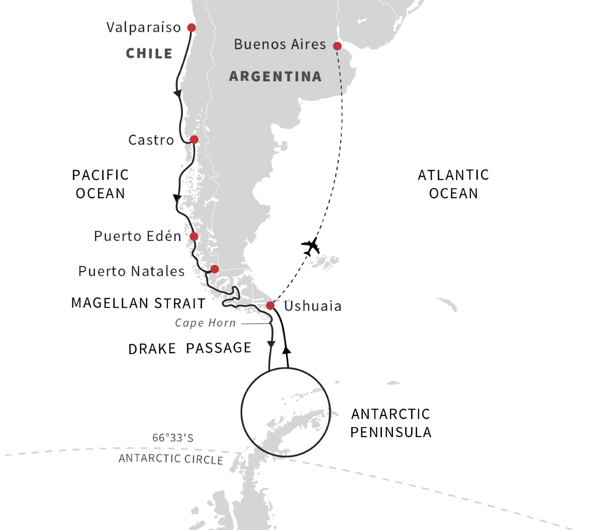 Antarctica, Patagonia, Chilean Fjords - Exploration of the Southern Highlights (Southbound)