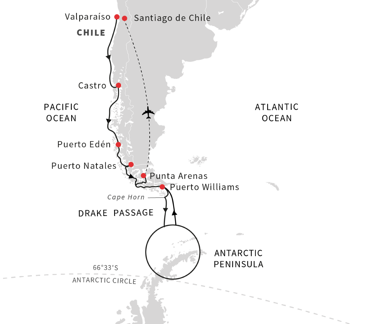 Antarctica, Patagonia, Chilean Fjords - Voyage of Discovery (Southbound) 2021