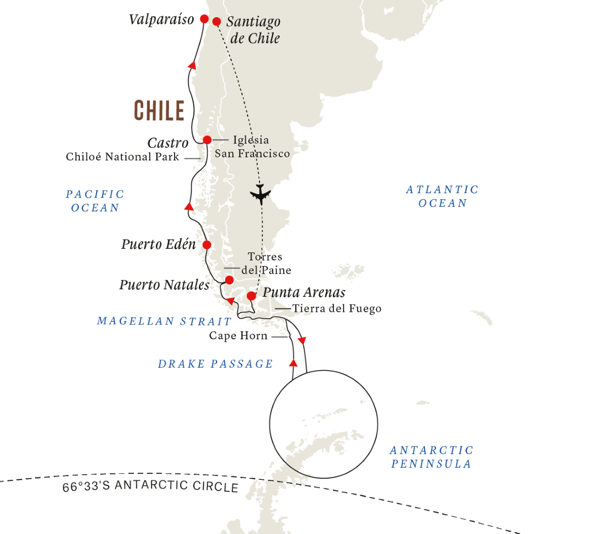 In-depth Antarctica & Patagonia Expedition (Northbound)