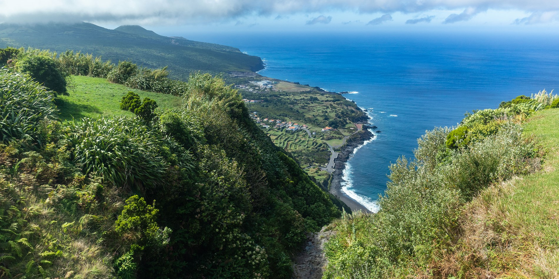 Experience the deep blue waters of Faial.