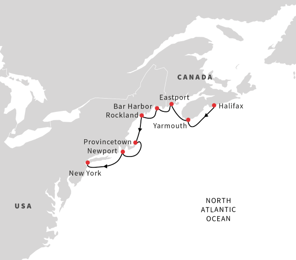 Cruise from Halifax to NYC | September 2020 | Hurtigruten on canada vegetation map, canada smoke map, canada snow map, canada forest map, canada soil map, canada white map, canada weather map, canada landscape map, canada water map, canada animals map, canada blank map, canada tropical map, canada hardiness map, canada beach map, canada green map, canada terrain map, canada fall map, canada fire map, canada geological features map, canada mountains map,