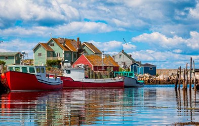 Peggy's Cove, Nova Scotia. Sailing from Halifax, this southbound adventure cruise on board MS Fram calls on charming towns on North America´s east coast in their spectacular fall colors.