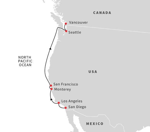 Cruise the West Coast: San Diego - Vancouver | May 2020 ...