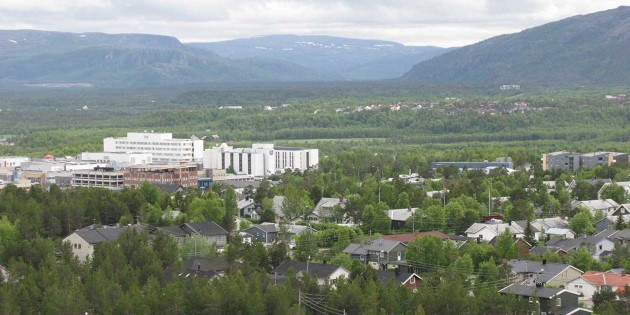 View of Alta and Finnmarksvidda