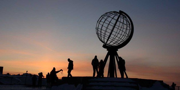 The North Cape, the northernmost point of continental Europe