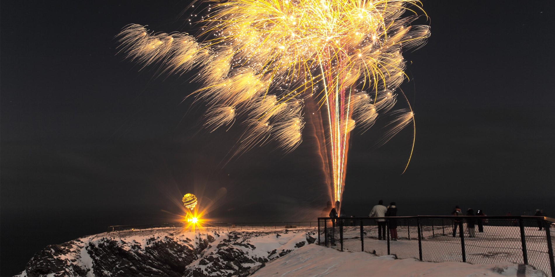 Celebrating New Years at the North Cape