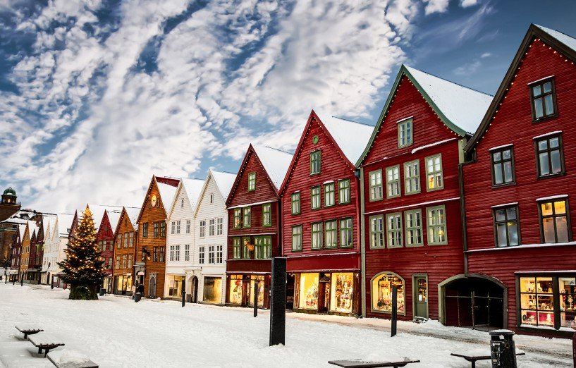 The UNESCO listed Bryggen in Bergen
