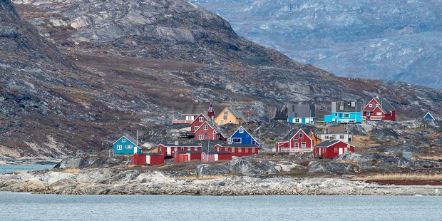 Colorful houses in Nuuk, Greenland.
