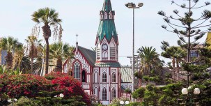 A beautiful church in Arica, Chile.