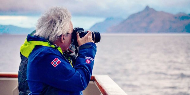 Get some great photographs from deck of the Chilean Fjords.
