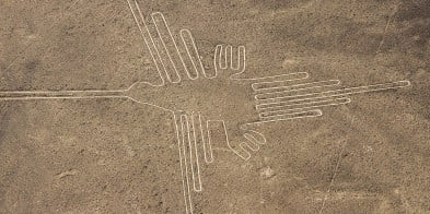 Aerial view of the mysterious Nazca Lines, Peru. The mix of exceptional nature, fascinating cities, vibrant South American culture and captivating lectures make this a voyage of unforgettable discovery.