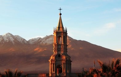 Plaza de Armas Arequipa, Peru. Join us for a voyage of natural and cultural discovery as we cruise along the stunning coast of South America, visiting Chile, Peru and Ecuador, on board MS Roald Amundsen.