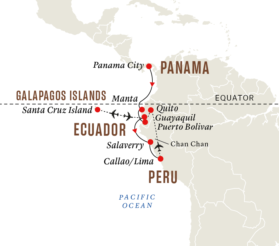 Panama, Ecuador and Peru - Incan Mysteries and Galapagos Islands