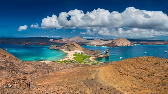 Bartolome Island offers stunning views.