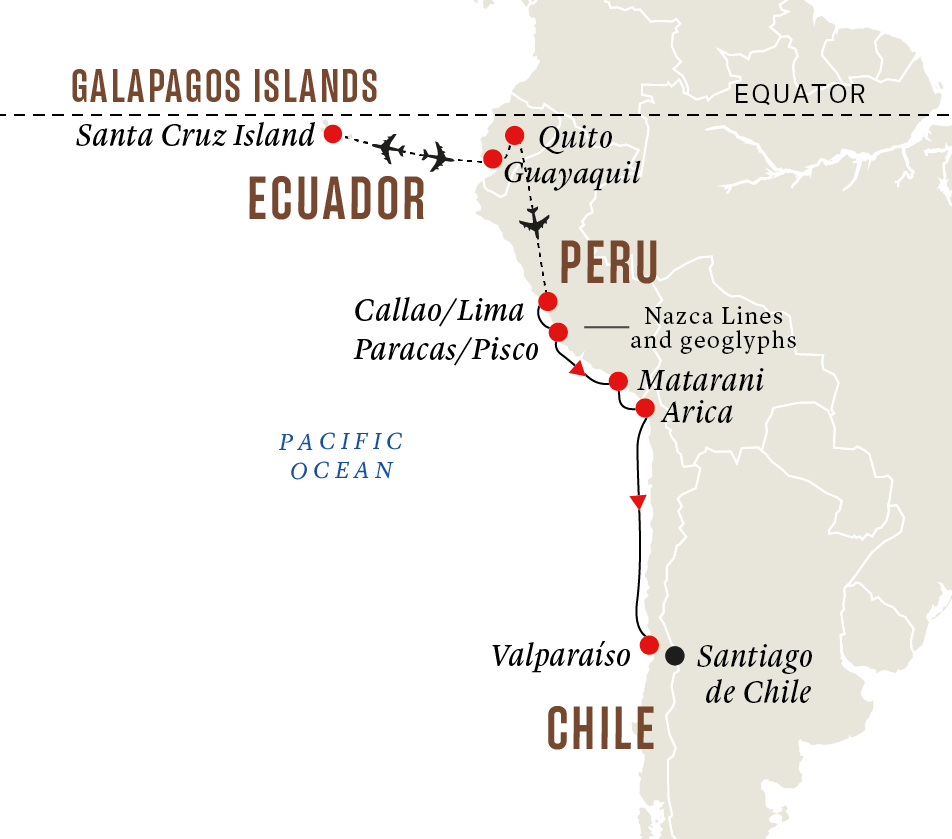 Peru and Chile - Galápagos Islands and Incan Highlights (Itinerary 1)