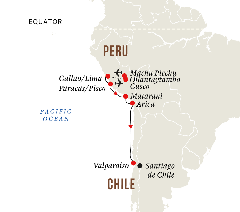 Peru and Chile - Machu Picchu and Incan Highlights (Itinerary 2)