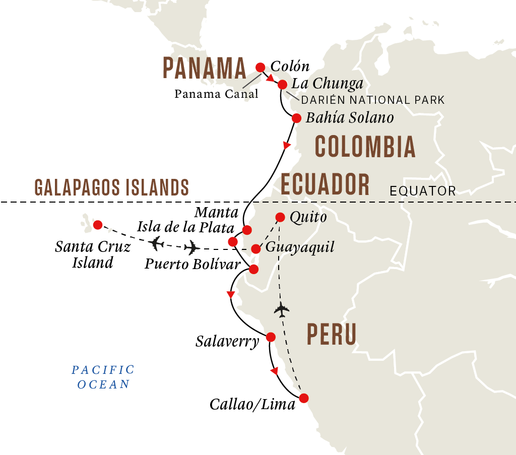 Panama Canal, Indigenous Communities, and Cultures with Galápagos Islands