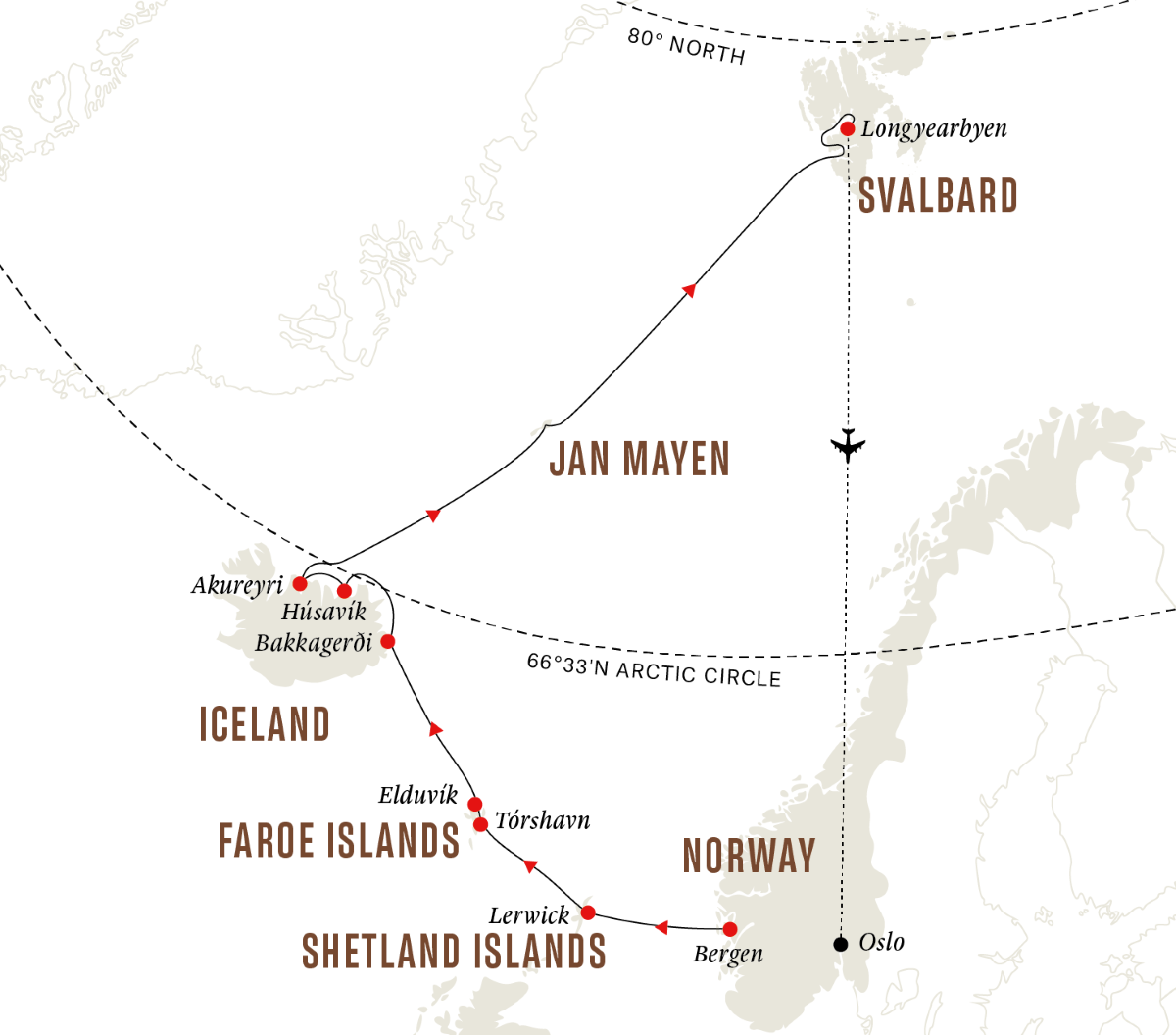 Faroe Islands, Iceland, Spitsbergen – Island Hopping In and Around the Arctic (Northbound)
