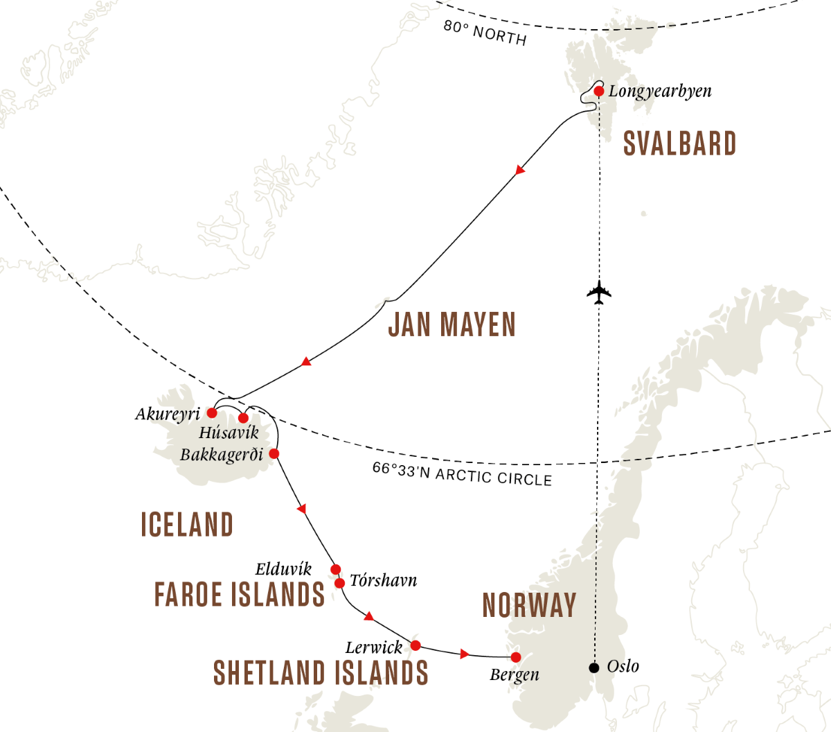 Spitsbergen, Iceland, Faroe Islands – Island Hopping In and Around the Arctic (Southbound)