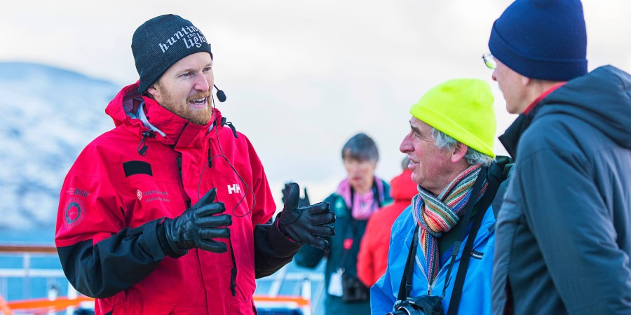 Every day there will be something happening out on deck with the Hurtigruten expedition team