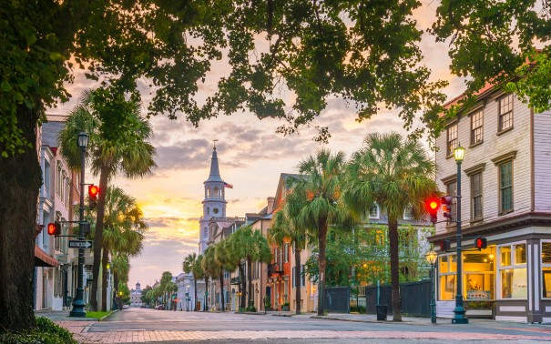 Historical downtown in Charleston.