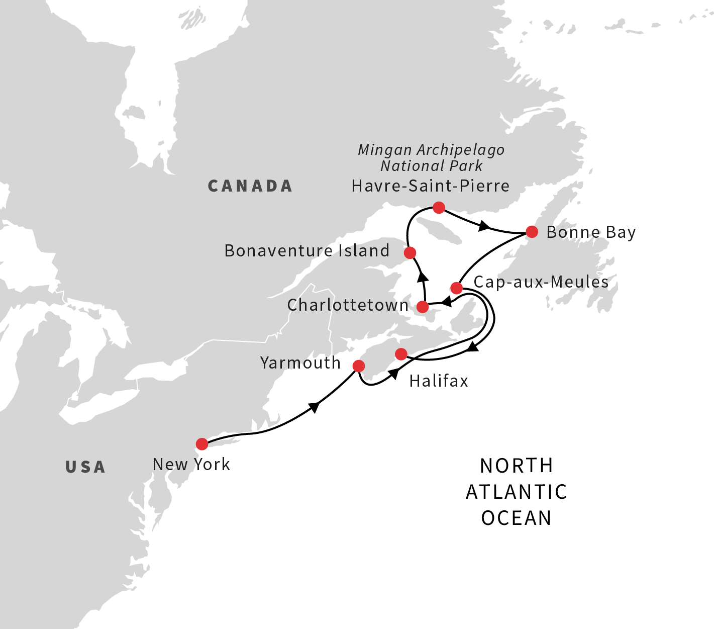 the secluded islands and bays of eastern canada