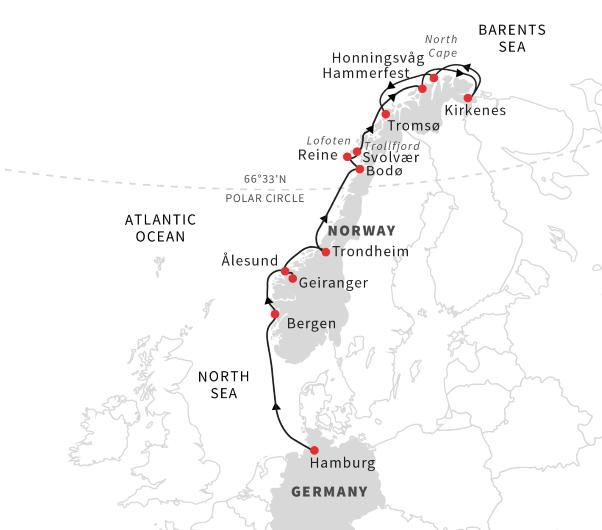 Cruise The Coastal Highlights Of Norway: Hamburg