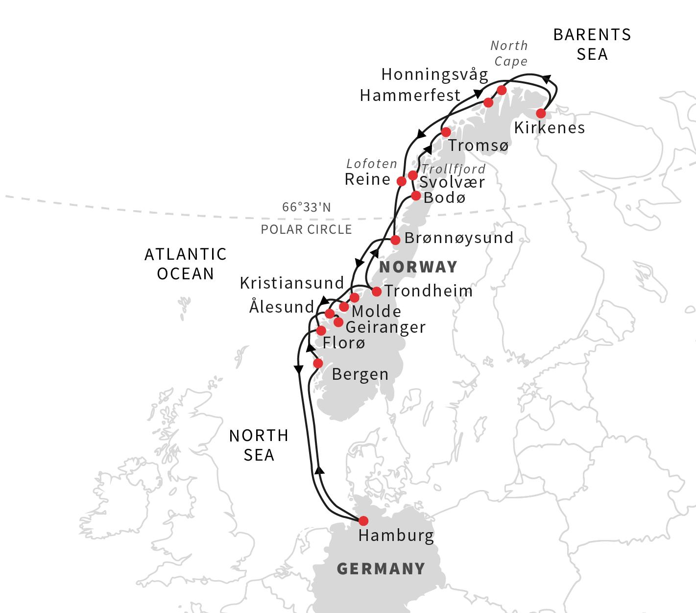 Norway Roald Amundsen S Norwegian Coastal Adventure Hurtigruten