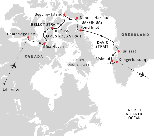 Cruise From The Northwest Passage To Greenland