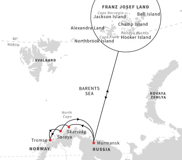 Cruise to Franz Josef Land via Murmansk, Russia (Aug/Sept 2019