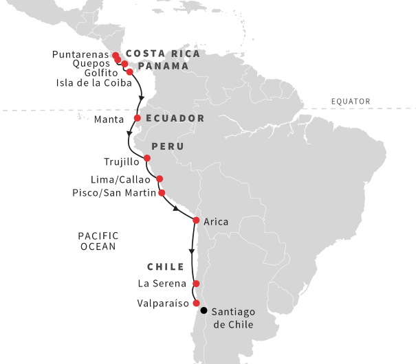 Cruise the Andean Coast from Costa Rica to Chile (October ... on golfito cr, weihai china map, ocala fl map, gainesville ga map, clearwater fl map, port costa ca map, spokane wa map, vero beach fl map, marble canyon az map, willow springs nc map, baltimore md map, kenora ontario map, huntington beach ca map, clinton mt map, naples fl map, golfito marina village, jupiter fl map, w palm beach fl map, niagara wi map, victoria bc map,