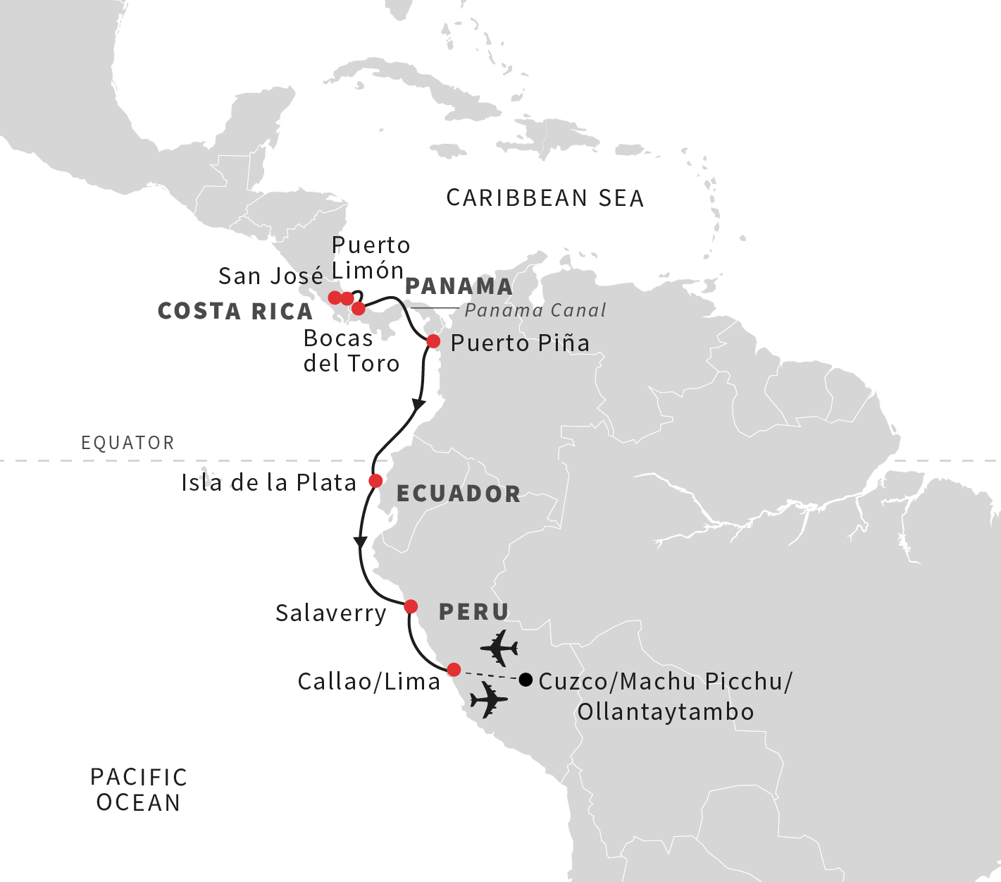 Cruise to machu picchu from costa rica to peru october 2019 experience beautiful costa rica gumiabroncs Image collections