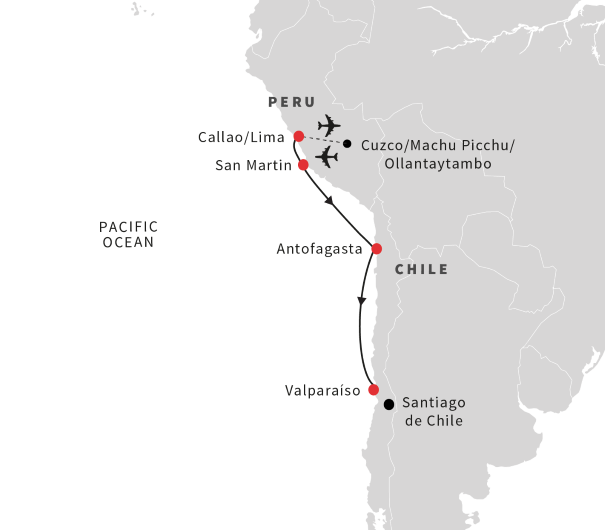 See Machu Picchu and cruise from Peru to Chile (October 2019 ... on american inca, sapa inca, about the location of inca, apos inca, atahualpa inca, map of america in 1700, physical map of inca, map of inca cities, who were the inca, map of inca mountains, aztec vs inca, map south america ecuador highlighted, area ruled by inca, peru inca, map of ancient inca, map of the incas, map of ancient mayan civilization, map of inca civilization, map of world religions today, map of america in 1830,