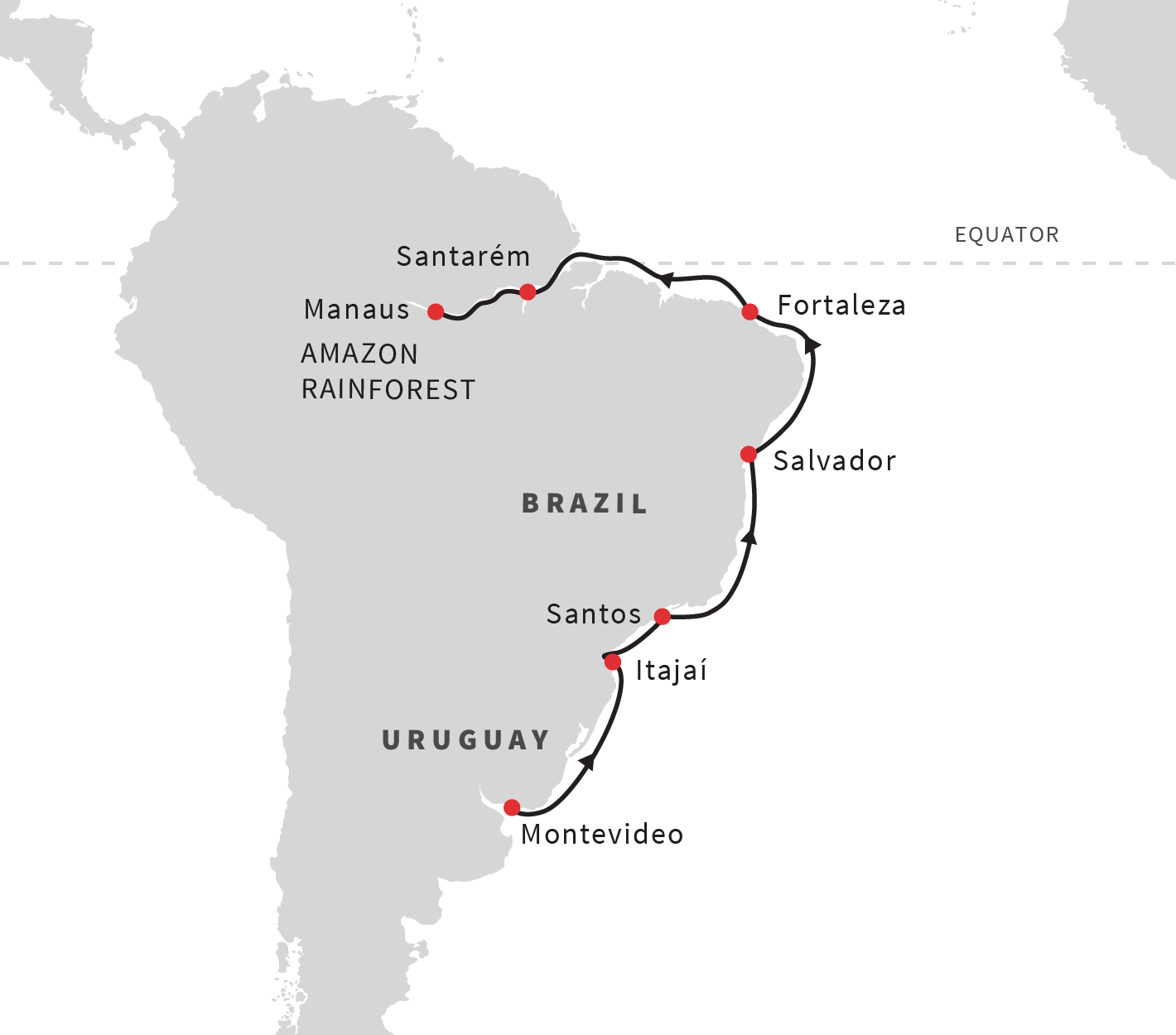 South America Cruises Expedition To The Amazon Rainforest - Amazon river map of south america