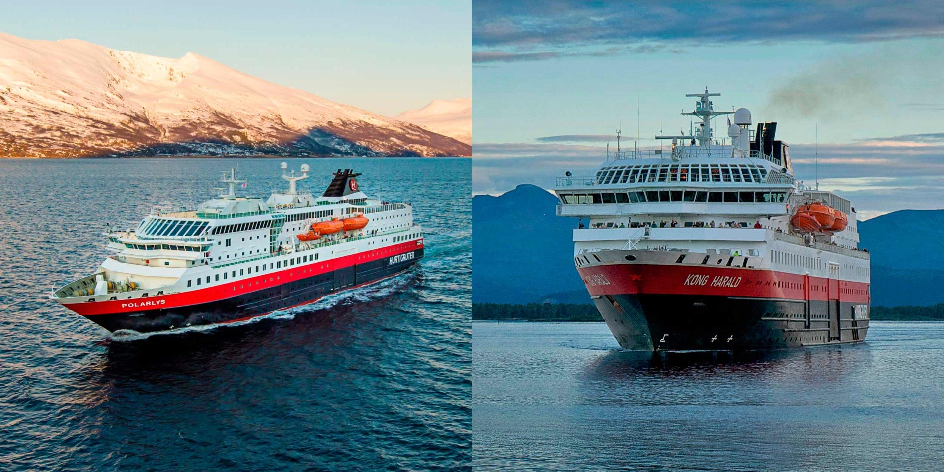 MS Polarlys and MS Kong Harald, our newly refurbished ships