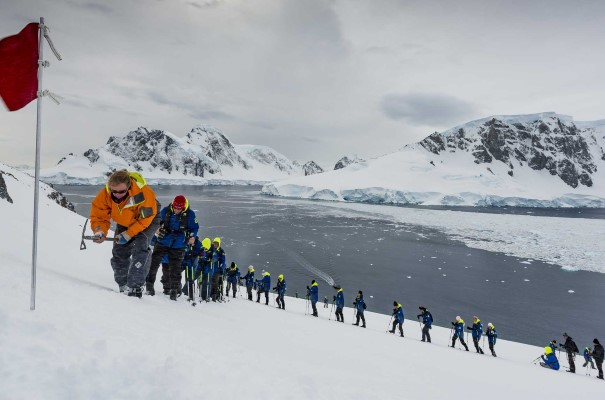 Go hiking in Orne Bay on one of our most ambitious voyages to Antarctica.