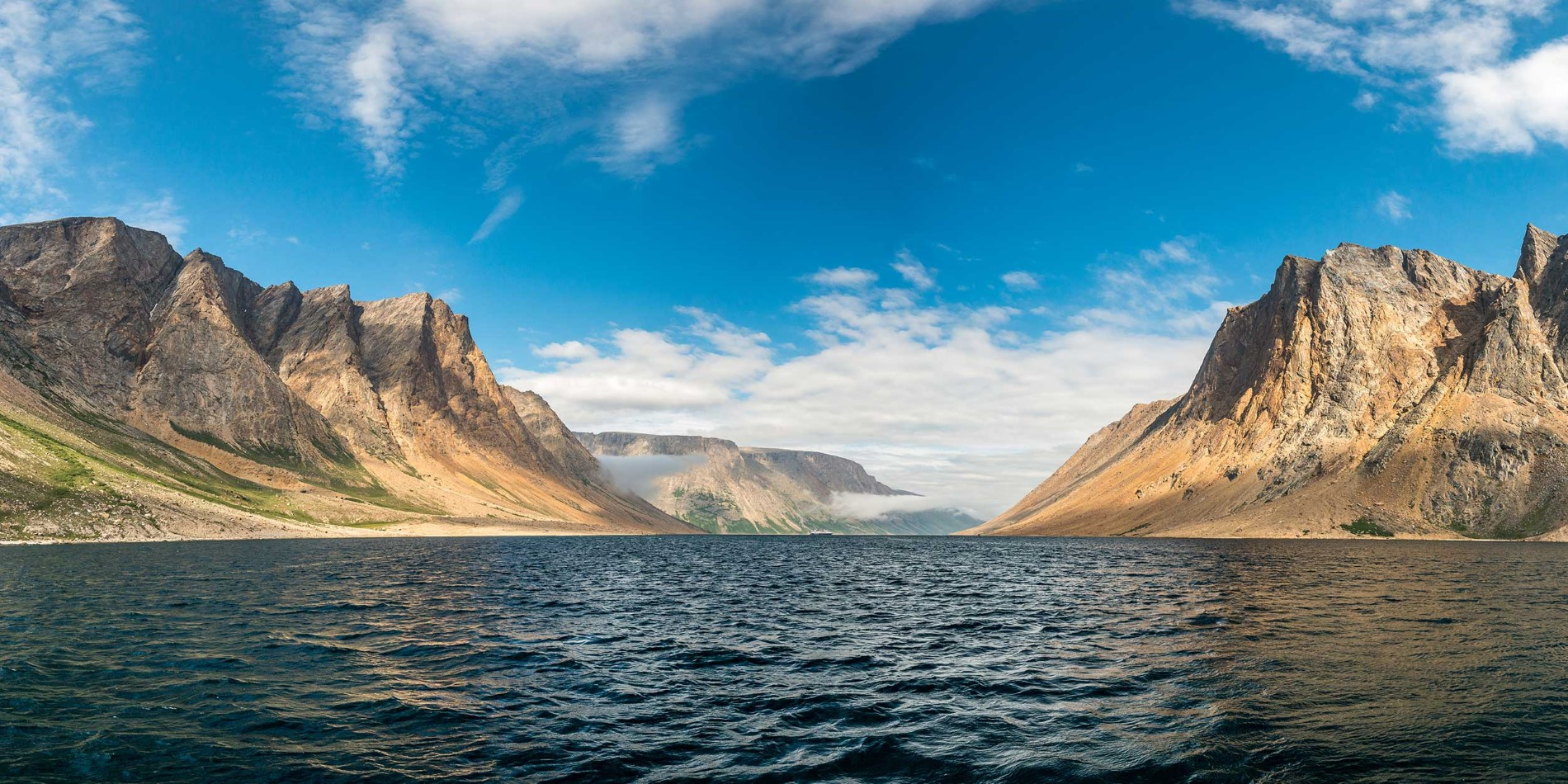 Saglek Fjord - Torngat Mountains on the Labrador coast in Canada
