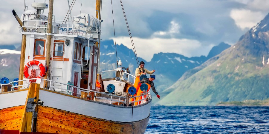 Fishing boat in Lofoten, Norway