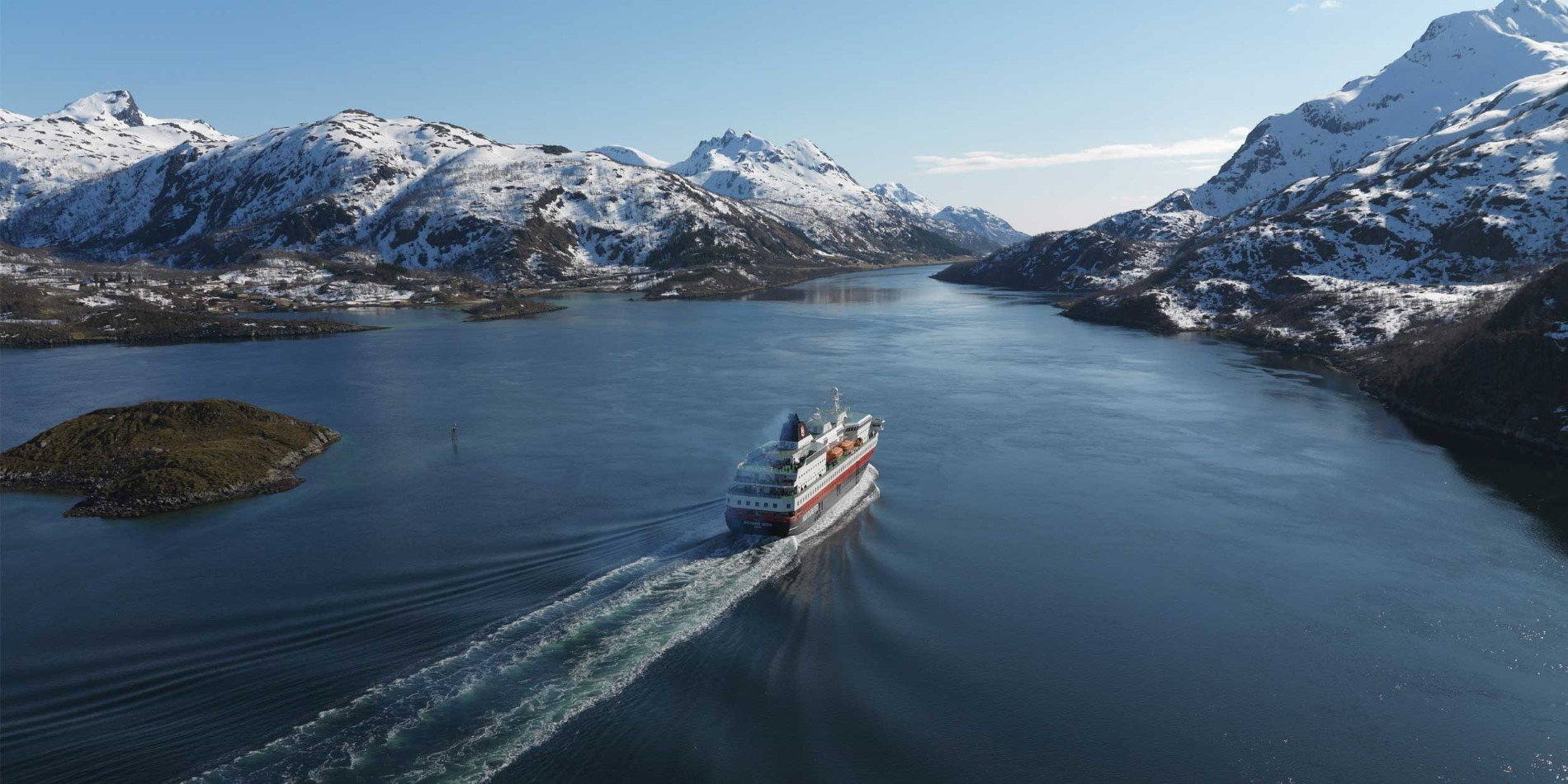 MS Richard With sailing through Raftsundet (Norway)
