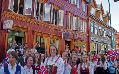 Celebrating the 17th of May in Norway. Norway'd Constitution Day