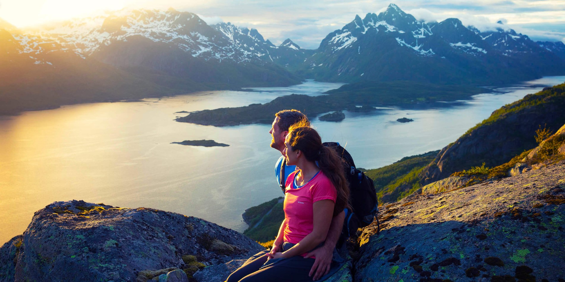 Lofoten's jagged mountain tops are perfect for great hikes and stunning views of Norway's landscape
