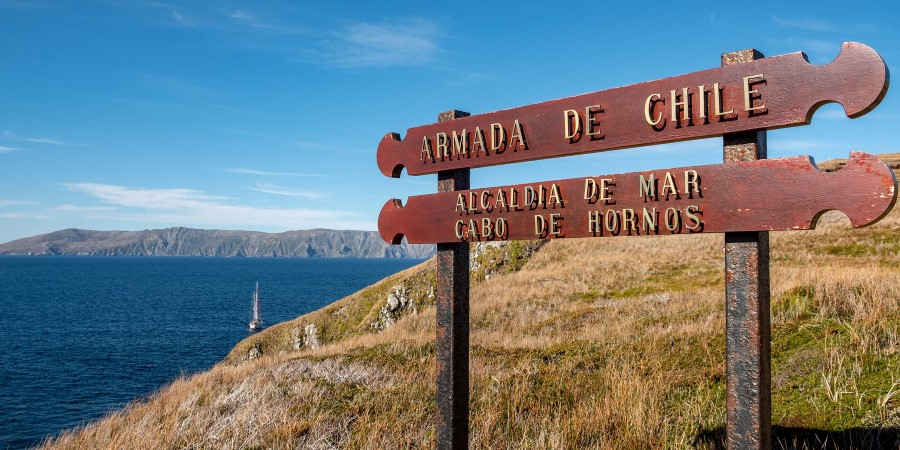 Historic signs in Cape Horn Chile