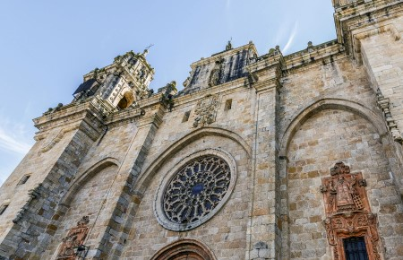 See rare Gothic paintings inside Mondoñedo Cathedral.